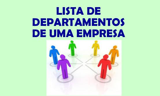 Lista de departamentos de uma empresa