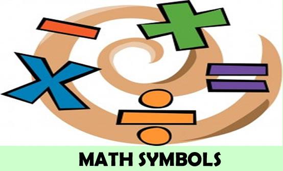 Sinais matemáticos em inglês
