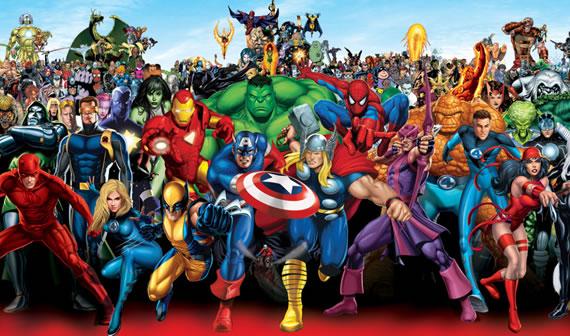 Os super heróis em inglês