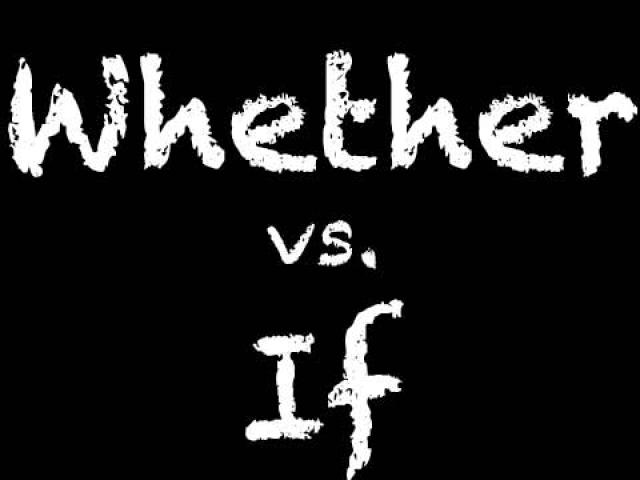 ´Whether´ or ´if´? Quando usar?