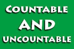 Substantivos contáveis e incontáveis