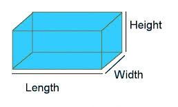 Dimensões em inglês